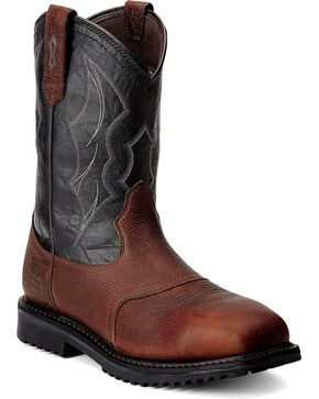 Ariat RigTek Waterproof Work Boots - Composite Toe, Brown, hi-res
