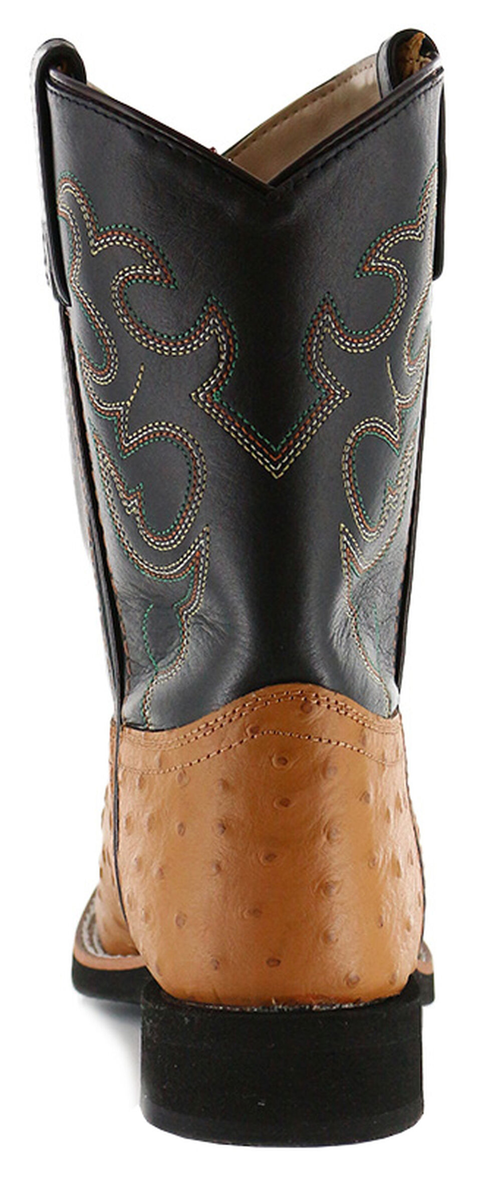Cody James Youth Boys' Ostrich Print Western Boots - Round Toe, Cognac, hi-res