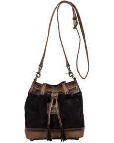 Carroll Co Women's Brown Heritage Bucket Handbag, Brown, hi-res