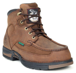 Georgia Athens Waterproof Work Boots - Steel Toe, Brown, hi-res