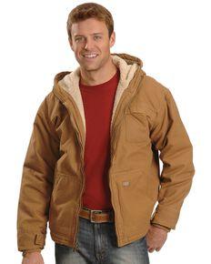 Dickies Hooded Sherpa Lined Work Jacket, Brown Duck, hi-res