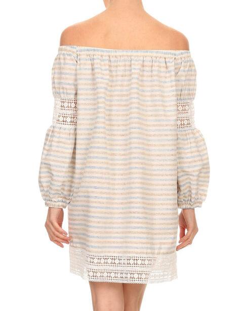 Freeway Apparel Women's Off The Shoulder Stripe Dress , Multi, hi-res