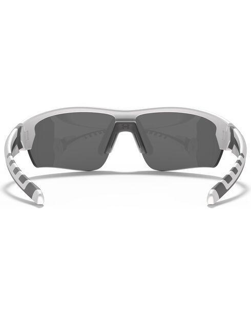 Under Armour Rival Satin White Blue Lens Sunglasses , White, hi-res