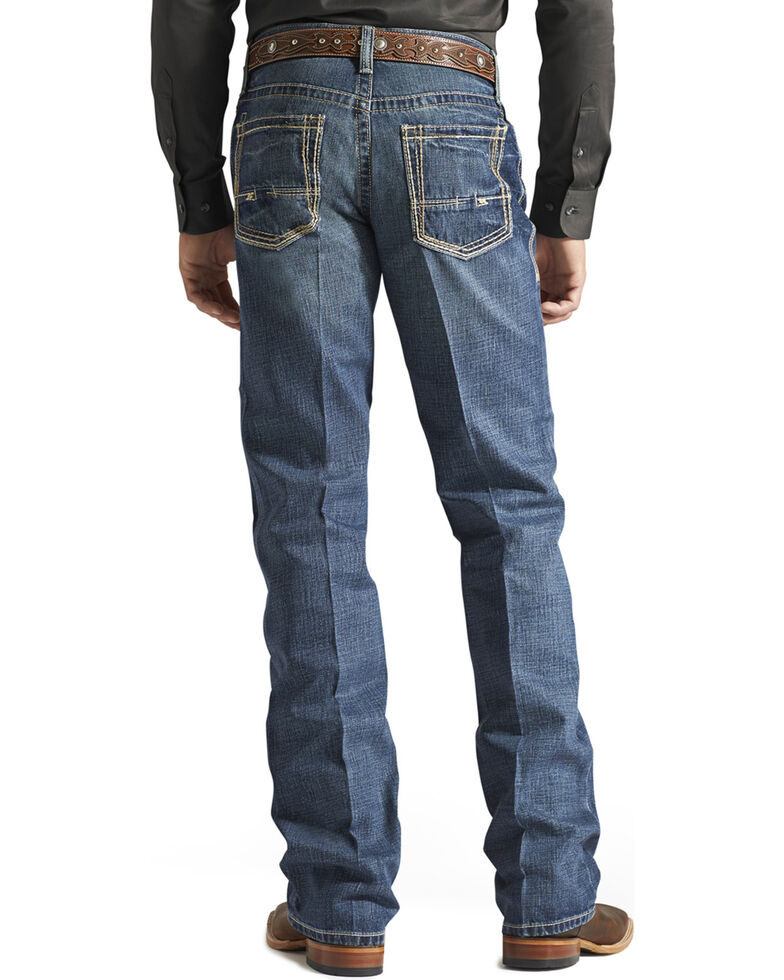 """Ariat Jeans - M4 Gulch Low Rise Bootcut - 38"""" Inseam, Med Wash, hi-res"""