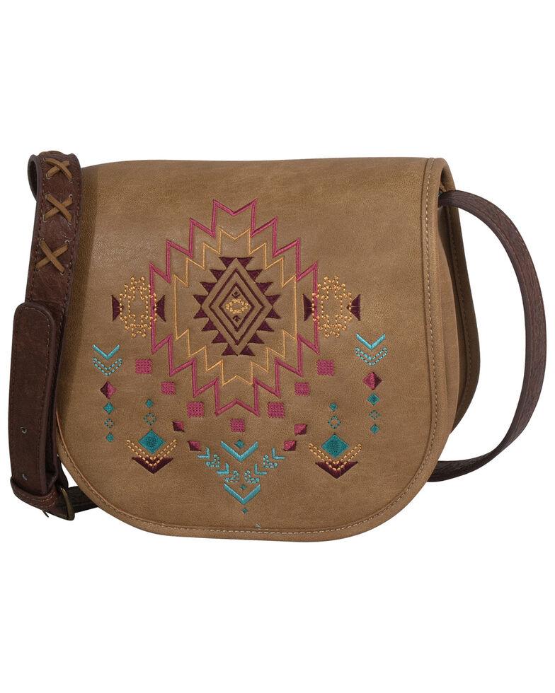 Catchfly Women's Kristan Aztec Saddle Bag, Brown, hi-res