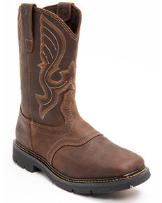 Cody James Men's Saddle Waterproof Western Work Boots - Soft Toe, Dark Brown, hi-res