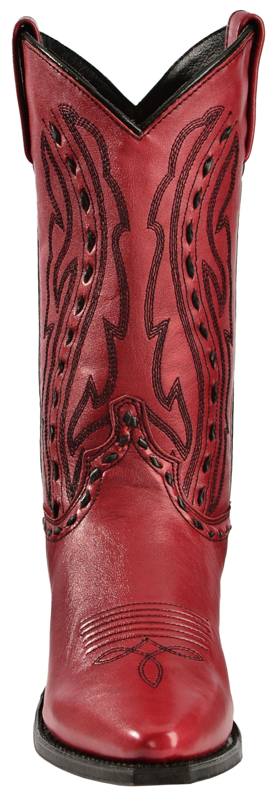 Abilene Whipstitched Red Cowgirl Boots, Red, hi-res