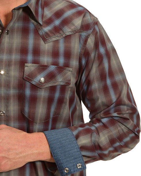Cody James Men's Belton Plaid Long Sleeve Shirt - Tall, Maroon, hi-res