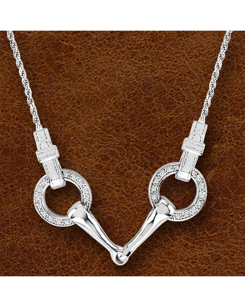 Kelly Herd Sterling Silver Snaffle Bit Necklace, Silver, hi-res
