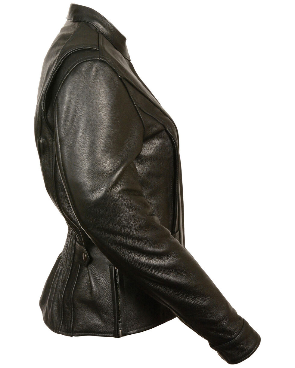 Milwaukee Leather Women's Back Stretch Vented Jacket, Black, hi-res