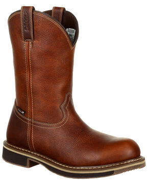 Rocky Men's Cody Waterproof Western Boots - Steel Toe, Brown, hi-res