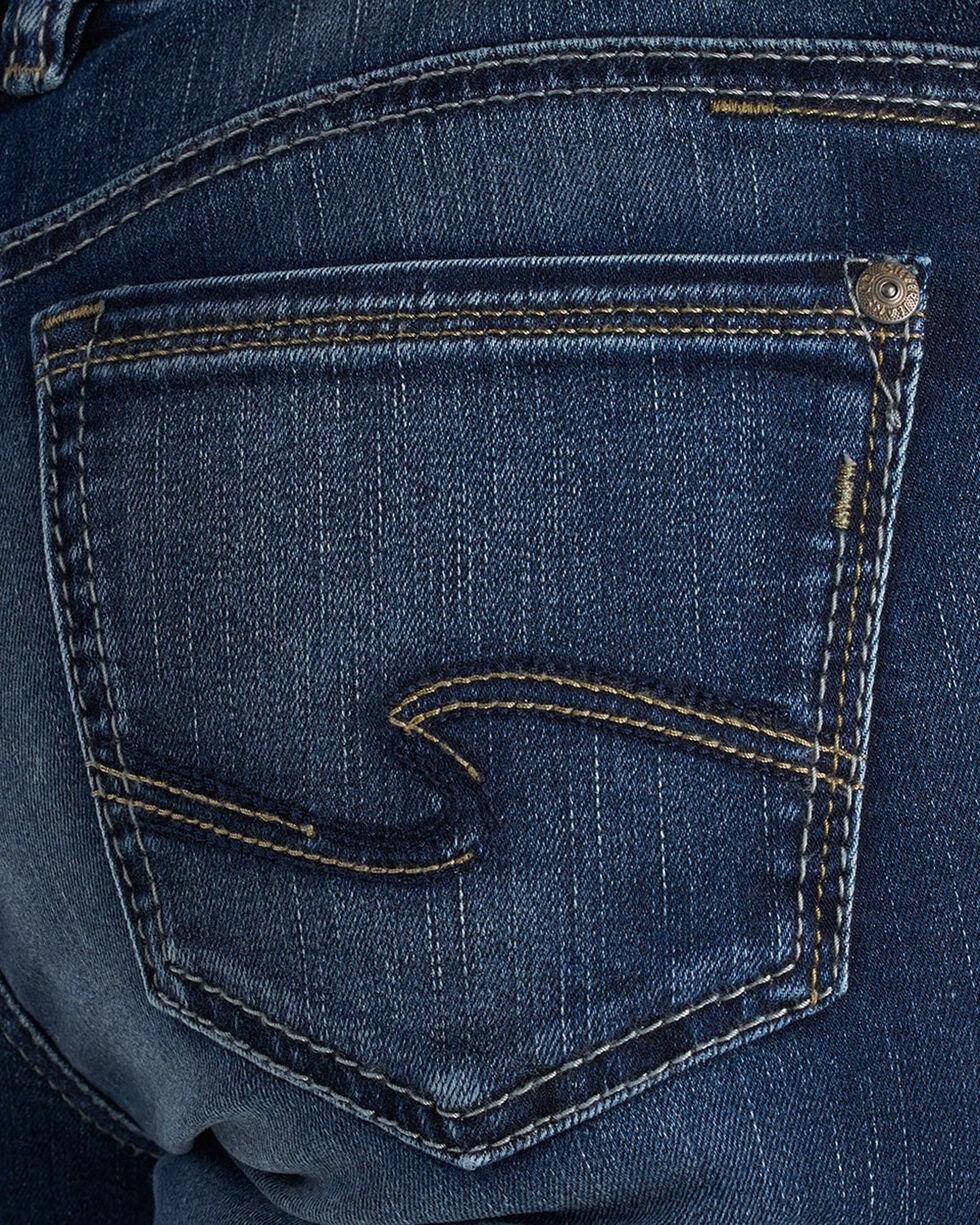 Silver Women's Suki Dark Wash Slim Boot Cut Jeans, Indigo, hi-res