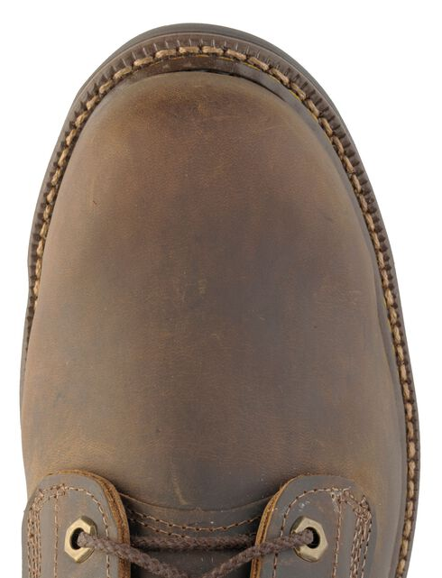 """Justin J-Max Rugged Gaucho 6"""" Lace-Up Work Boots - Steel Toe, Bay Apache, hi-res"""
