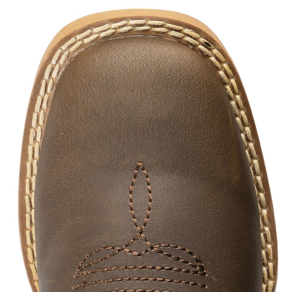 Double Barrel Boys' Open Range Cowboy Boots - Square Toe, Brown, hi-res