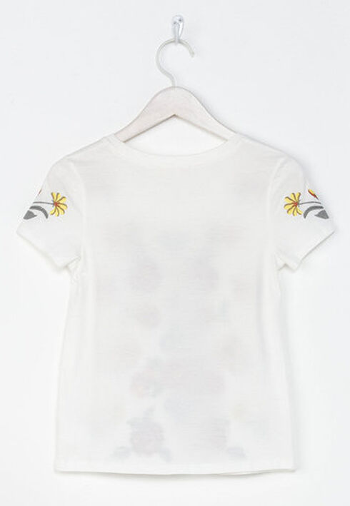 Miss Me Girls' White Mystic Garden Embroidered Top , White, hi-res