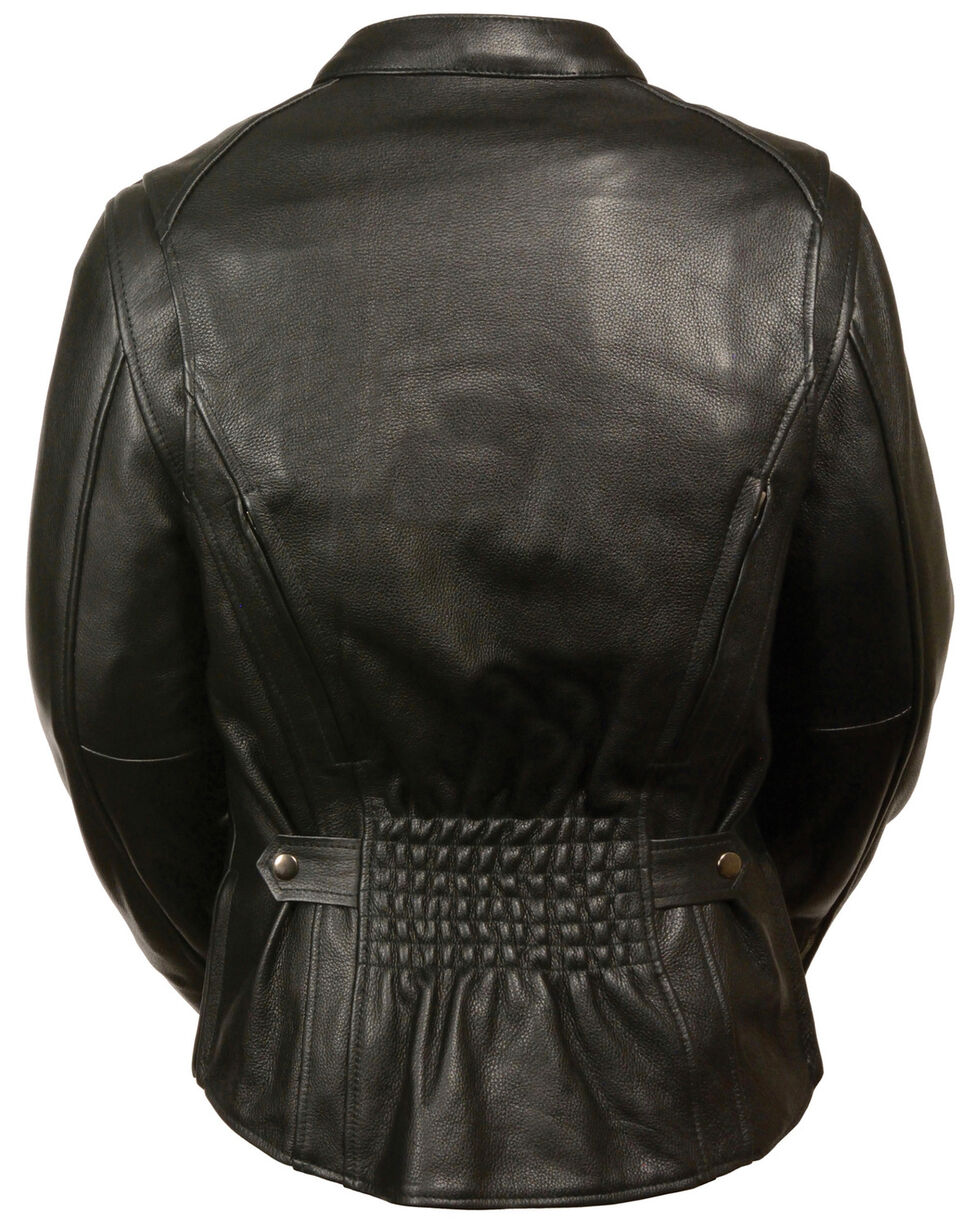 Milwaukee Leather Women's Back Stretch Vented Jacket - 4X, Black, hi-res