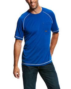 5c1fadf83f3f Ariat Mens Royal Rebar Sunstopper Short Sleeve Work Shirt - Tall , Blue, hi-