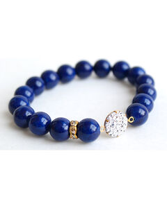 Everlasting Joy Women's Navy Riverstone Sparkle Bracelet, Navy, hi-res