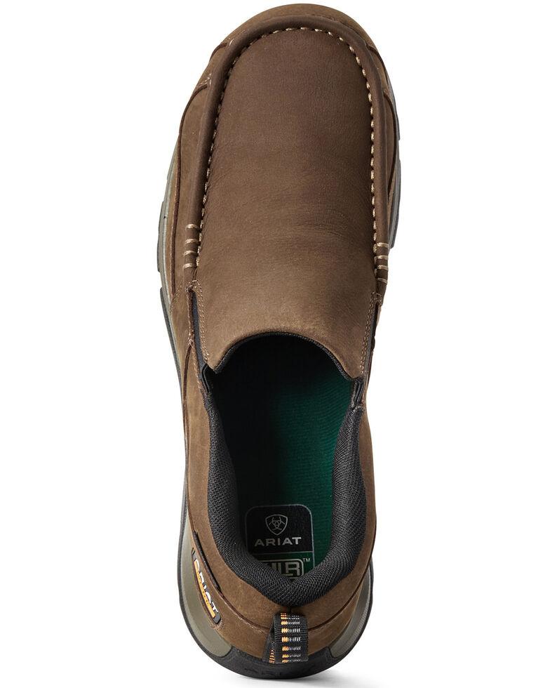 Ariat Men's Edge Lite Slip-On Work Shoes - Composite Toe, Brown, hi-res