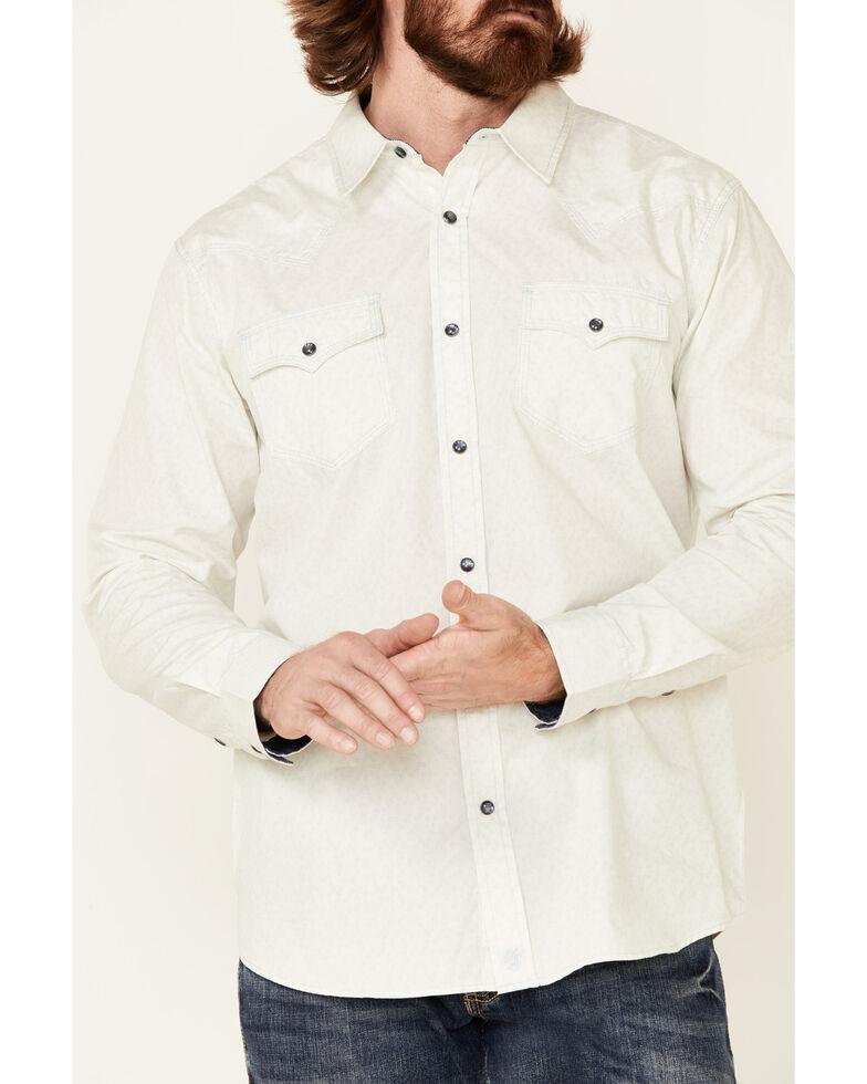 Moonshine Spirit Men's Harbor Floral Print Long Sleeve Snap Western Shirt , Ivory, hi-res