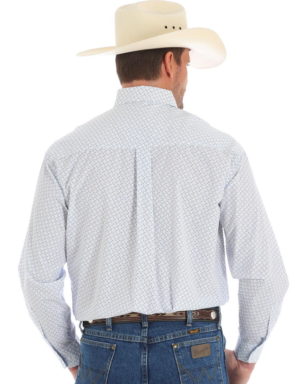 Wrangler George Strait Men's White Long Sleeve Shirt , Blue, hi-res
