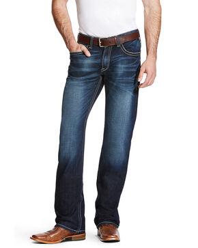 Ariat Men's M4 Adkins Turnout Boot Cut Jeans - Big, Blue, hi-res