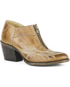 Stetson Women's Nicole Brown Short Western Boots - Round Toe, Brown, hi-res