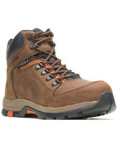 Wolverine Men's Brown Grayson Waterproof Work Boots - Steel Toe, Brown, hi-res