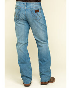 Wrangler 20X Men's Blue Mountain Active Flex Relaxed Fit Jeans - Long , Blue, hi-res