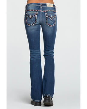 Miss Me Women's Accent Stitching Jeans - Boot Cut, Dark Blue, hi-res
