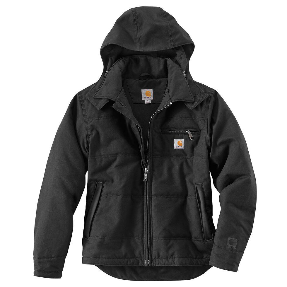 Carhartt Quick Duck Woodward Traditional Jacket, Black, hi-res