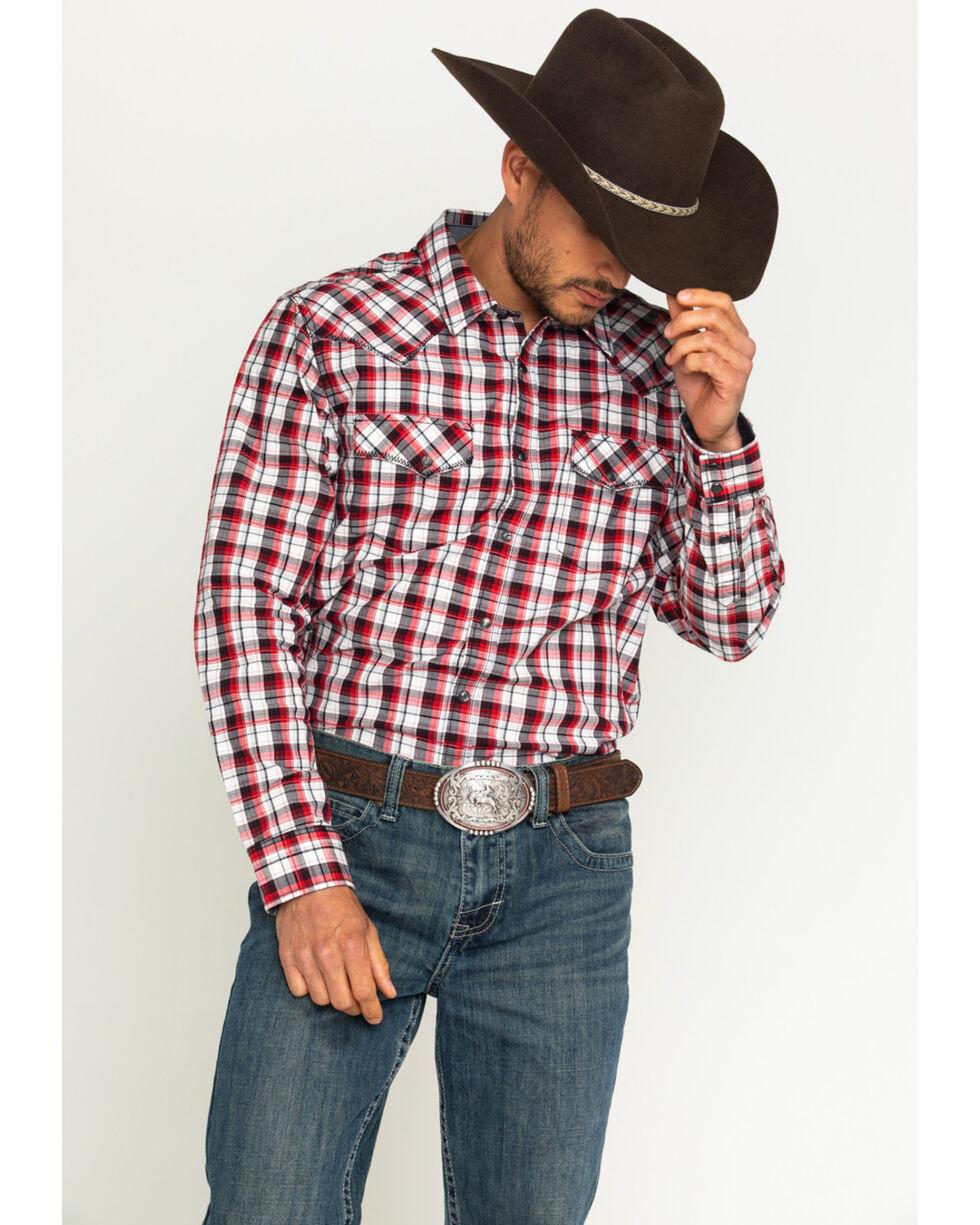 Cody James Men's Firewater Plaid Long Sleeve Shirt, Black, hi-res