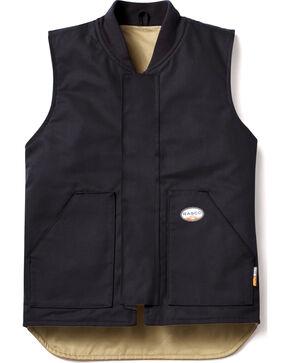 Rasco Men's Black FR Work Vest - Tall , Black, hi-res