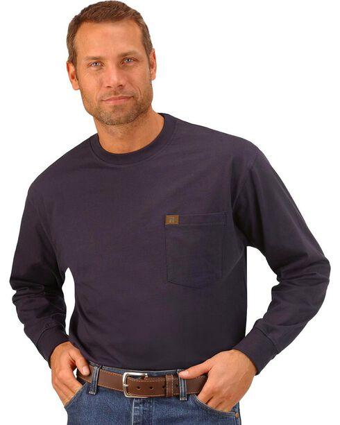 Wrangler Riggs Workwear Pocket Tee - Big, Tall, Big/Tall, Navy, hi-res