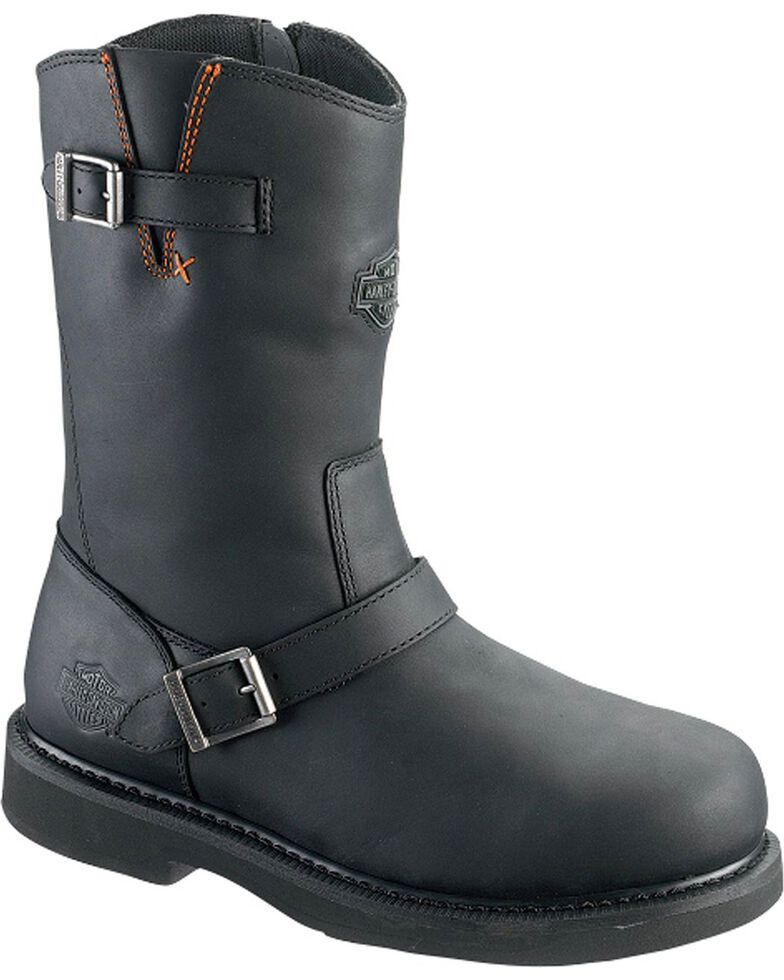 Harley Davidson Men's Jason Harness Boots - Steel Toe, Black, hi-res