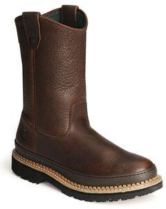 Georgia Giant Wellington Work Boots, Brown, hi-res