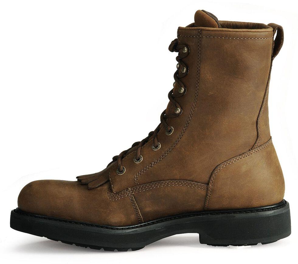 "Wolverine Ingham DuraShocks Lace-Up 8"" Work Boots, Dark Brown, hi-res"