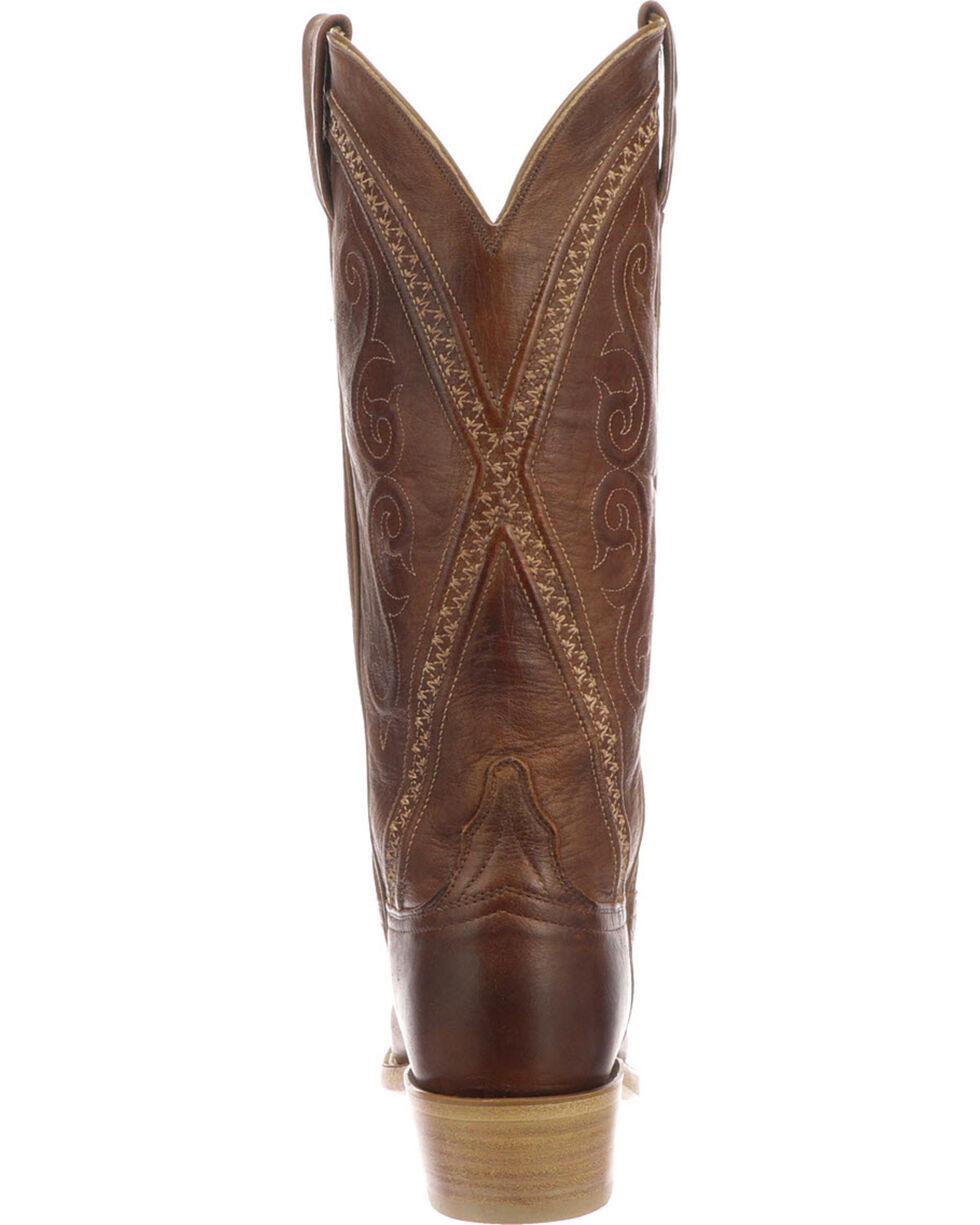 Lucchese Women's Darlene Tan Leather Western Boots - Snip Toe, Tan, hi-res