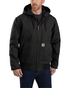 Carhartt Men's Sandstone Lined M 130 Active Work Jacket - Tall , Black, hi-res