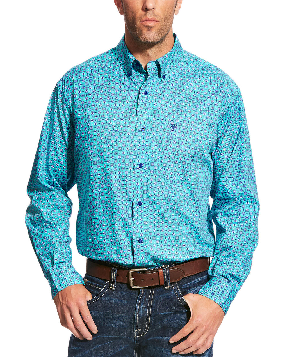Ariat Men's Casual Series Morgan Print Long Sleeve Button Down Shirt, Multi, hi-res
