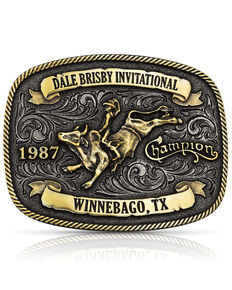 Montana Silversmiths Men's Dale Brisby Invitational 1987 Trophy Buckle, Bronze, hi-res