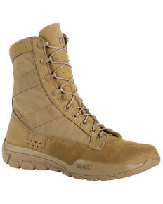 Rocky Men's C4R Tactical Military Boots - Round Toe, Taupe, hi-res