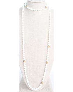 Everlasting Joy Women's White Glam Wrap Necklace, White, hi-res