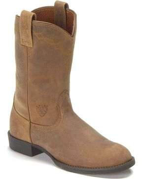 Women's Ariat Heritage Roper Boots, Distressed, hi-res