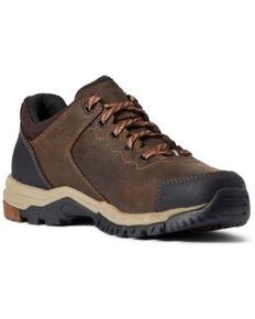 Ariat Women's Distressed Brown Skyline Low H20 Full Grain Hiking Boot - Round Toe, Dark Brown, hi-res