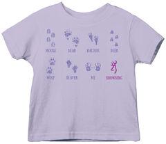 Browning Toddler Girls' Lavender Baby Tracks Short Sleeve Tee , Lavender, hi-res