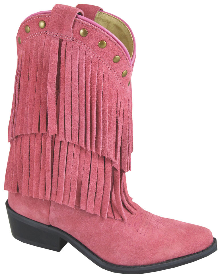 Smoky Mountain Girls' Wisteria Western Boots - Medium Toe, Pink, hi-res