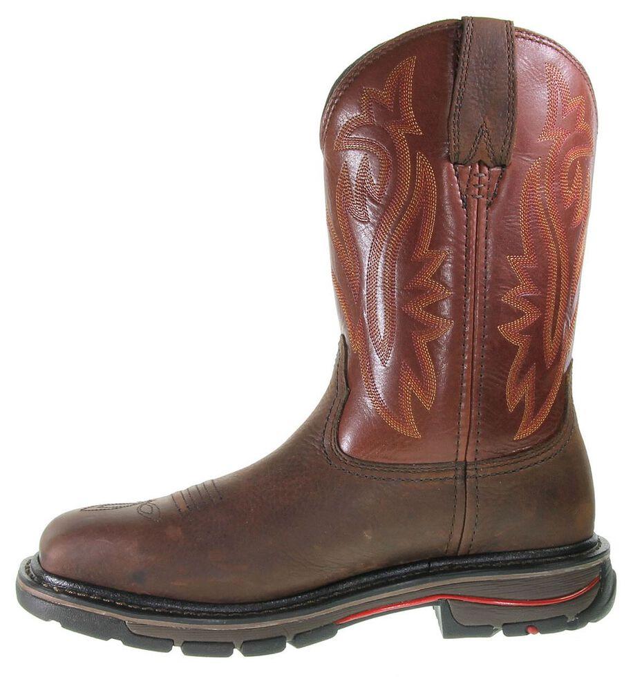 Wolverine Javelina Pull-On Work Boots - Steel Toe, Dark Brown, hi-res