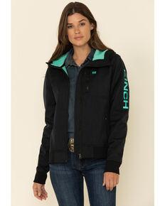 Cinch Women's Textured Bonded Logo Hooded Jacket, Black, hi-res