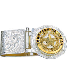 Montana Silversmiths Texas Star Hinged Money Clip, Silver, hi-res